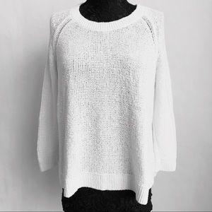 Banana Republic White Over Sized Sweater